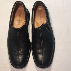Johnston And Murphy Black Leather Loafers